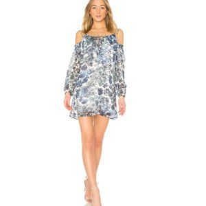 NWT Bailey 44 Blue Floral Off Shoulder Mini Dress
